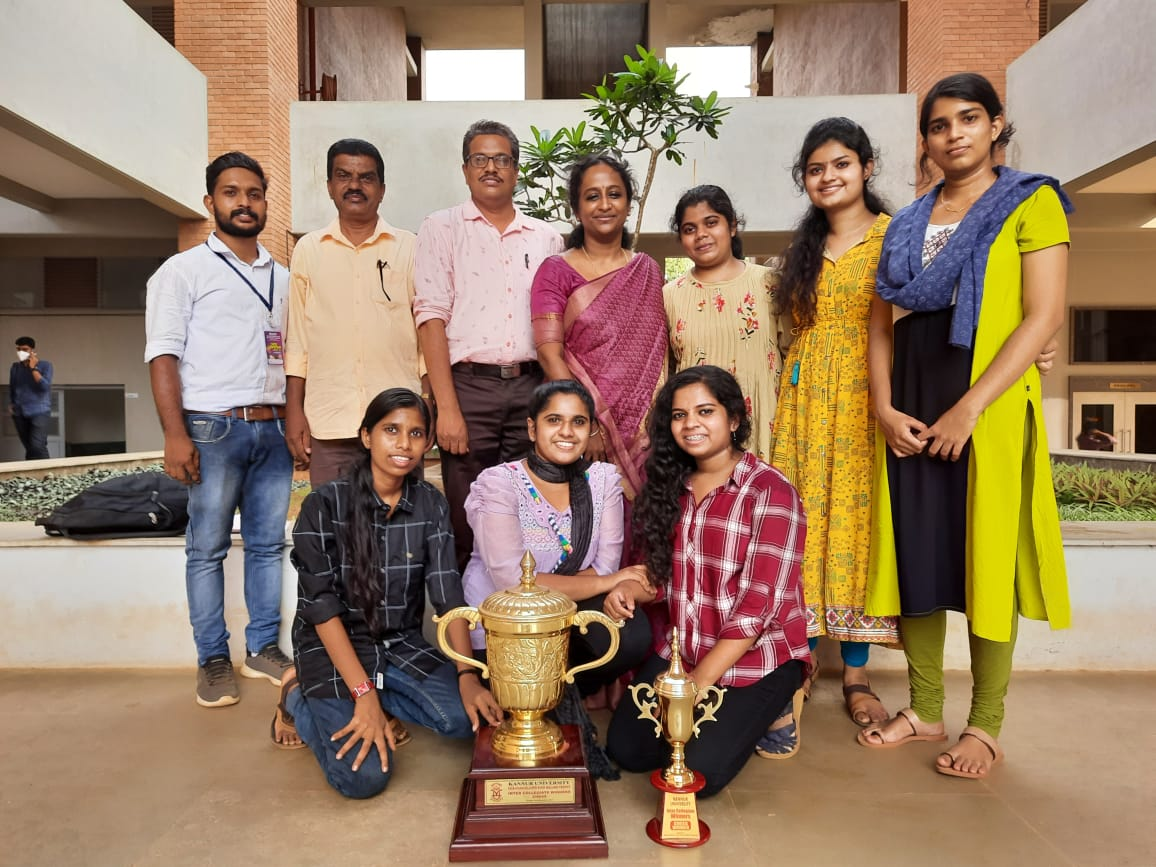 Secured First Position in Kannur University Intercollegiate women Chess championship 2020-21 organized by MM knowledge Arts and Science College.